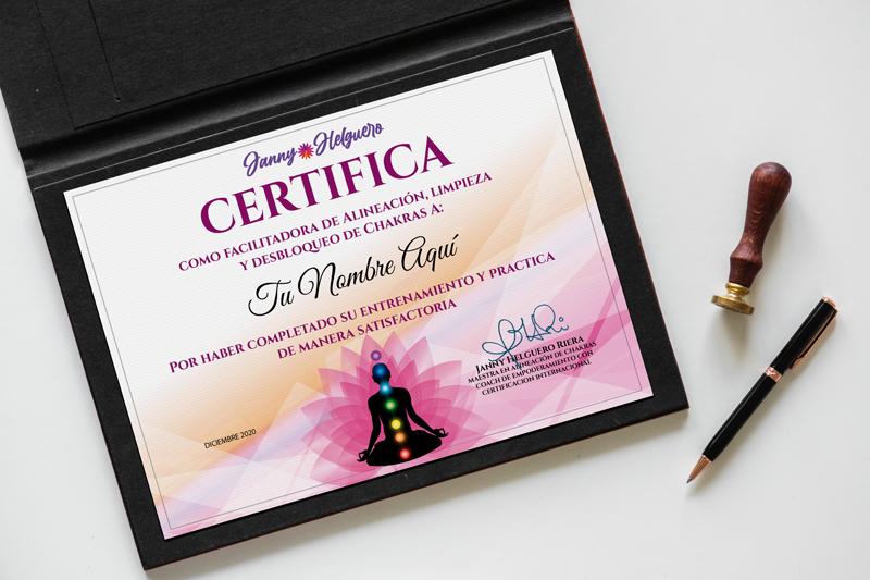 Certificación Alineación de Chakras